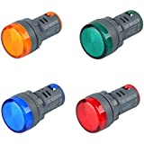 TSKTECH LED PANEL INDICATOR 230V 22MM PLASTIC (SET of RED, GREEN, BLUE, YELLOW)