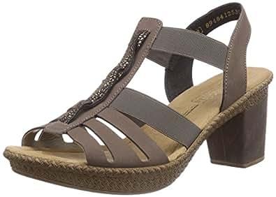 rieker 66559 damen sandalen grau mineral moro gold 42 42 eu 8 damen uk schuhe. Black Bedroom Furniture Sets. Home Design Ideas