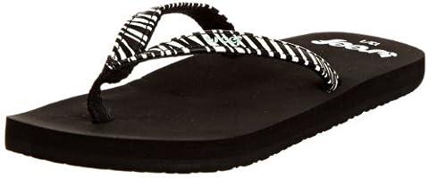 Reef Little Uptown Girl, Sandales filles - Noir (Zebra), 23-24 EU