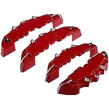 3d rojo Útil Coche Universal Freno de disco Pinza cubre delantero y trasero Color rojo