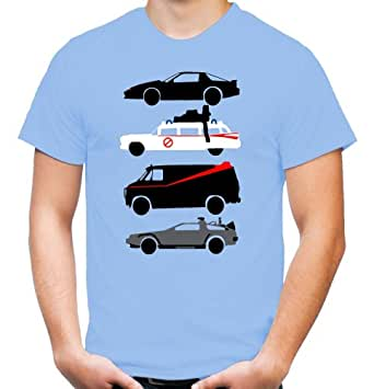 Kult Cars T-Shirt   A-Team   Ghostbusters   Knight Rider   Back to Future   Fun (XL)
