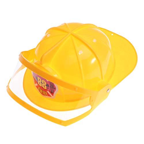 Amosfun Toyvian Schutzhelm Einstellbare Feuerwehrmann Hut Hut Spielzeug Pädagogisches Spielzeug Kostüm Party Hüte für Kinder Kinder (Gelb)