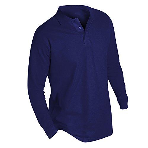 Pique Langarm Polo-shirt (SOLS Herren Winter II Pique Langarm-Shirt / Polo-Shirt, Langarm (2XL) (Marineblau))