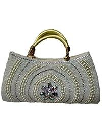 Sana Bags Women's Lether Silver 29.2 X 2.5 X 17.8 Cm Handbag Bangle (SB-15)