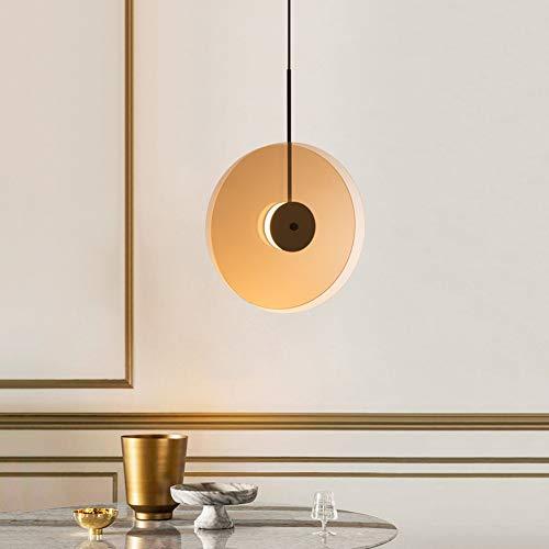 Disc Fliegende Untertasse Pendelleuchte, LED-Lichtquelle/verstellbar mit 120 cm Hängedraht, Amber-Verbundglas-Kronleuchter, ideal für Restaurant, Schlafzimmer, Studie,Vertical(White) -