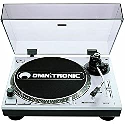 Omnitronic BD-1550 - Tocadiscos (Color blanco, 450 x 352 x 148 mm)