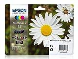 Epson Multipack 184Farben Tintenpatrone für Tintenstrahldrucker (schwarz, cyan, magenta, gelb, original Epson XP-30/XP-102/XP-205/XP-205/XP-302/XP-305/XP-402/XP-405, Standardkapazität, 192x 141,75X 45mm)