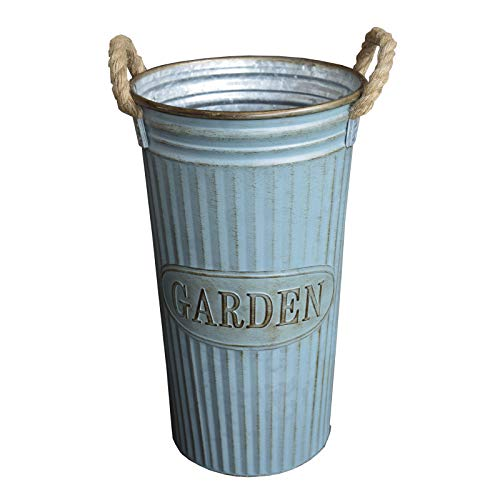 Hogar y mas portaombrelli alta blu metallo, design vintage con manici giardino di casa e di più