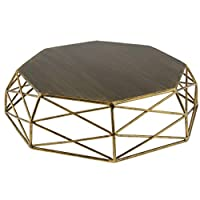 P Prettyia Geometric Shape Tray Hollow Out Vintage Gold/Silver Cake Stand Cake Tools