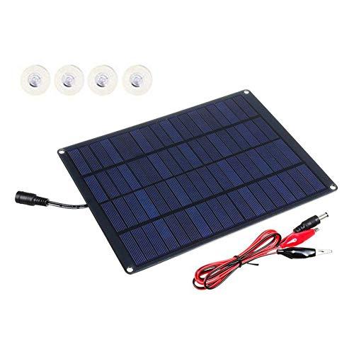 lennonsi Solarpanel 20W 18V Single Crystal Lade Automotive Flexible Energiesparende Solarpanel 5V USB 2.0-Anschluss für Handy-Ladegerät RV Boot Camping 230mm×170mm×2.5mm