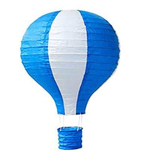 Black Temptation Geburtstagsparty/Weihnachten/Ostern/Mall Dekoration hängen Papier Laterne Heißluftballon 25cm(Blau)