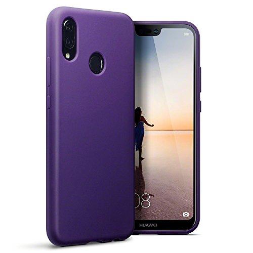 TERRAPIN, Kompatibel mit Huawei P20 Lite Hülle, TPU Schutzhülle Tasche Case Cover - Matt Lila
