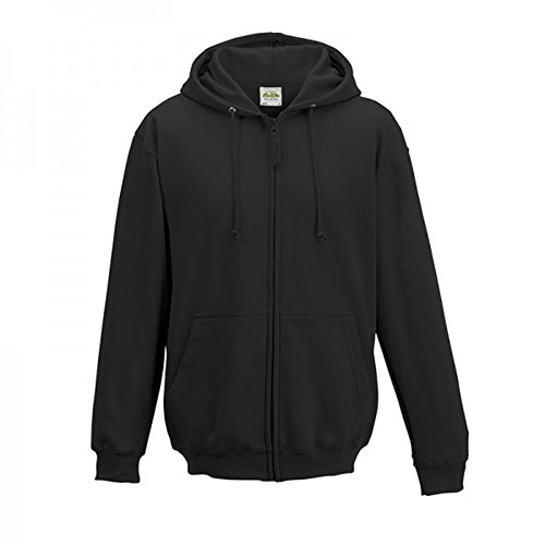 AWDis Herren Reißverschluss Kapuzen Pullover Jacke Jet Black