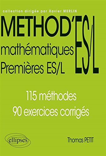 Method'ES/L Mathematiques Premieres