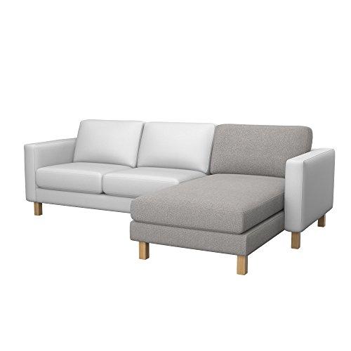 Soferia - Bezug fur Ikea KARLSTAD Anbau Recamiere, Glam Stone