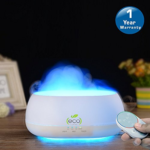TESCO Cloud Mist air humidifier, aroma diffuser with multi color lamp 500ml with remote control & timer function for home, office, gym, spa, baby room - 1 year warranty
