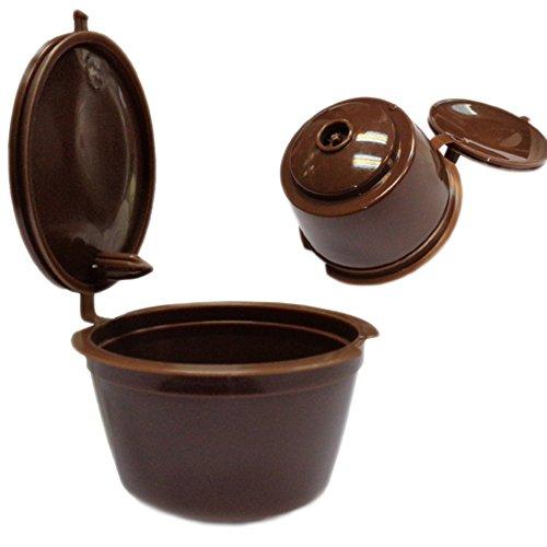 LAAT 2PCS Cápsulas de café Filtro de café Recargable Vainas de café Reutilizables para máquinas...