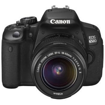Canon EOS 650D Fotocamera Reflex Digitale 18 Megapixel, Touch screen, Full HD + Obiettivo EF-S 18-55mm IS II