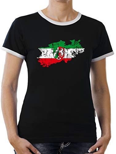 Touchlines Merchandise Nordrhein Westpfalen Bundesland Kontrast T-Shirt Damen XXL Schwarz
