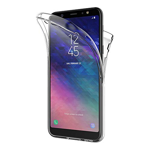 AICEK Samsung Galaxy A6 Plus 2018 Hülle, 360°Full Body Transparent Silikon Schutzhülle für Samsung A6 Plus 2018 Case Durchsichtige TPU Bumper Galaxy A6 Plus 2018 Handyhülle (6,0 Zoll)