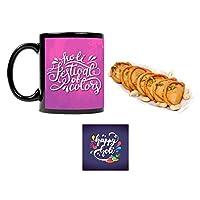 "YaYa Cafeâ""¢ Holi Sweets Gift Gujia Combo Holi Festival of Colors Mug, Coaster, Kesar Gujiya - 1kg"