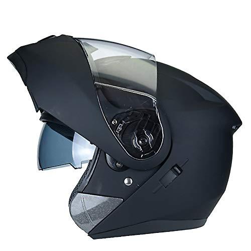 BESHU Klapp-Helm Modular-Helm Motorrad-Helm Cruiser Helmet Urban Sturz-Helm Sport Scooter-Helm Roller-Helm Integral-Helm · ECE zertifiziert · zwei Visiere (M, L, XL,XXL) (Motorrad Modulare Helm Cruiser)
