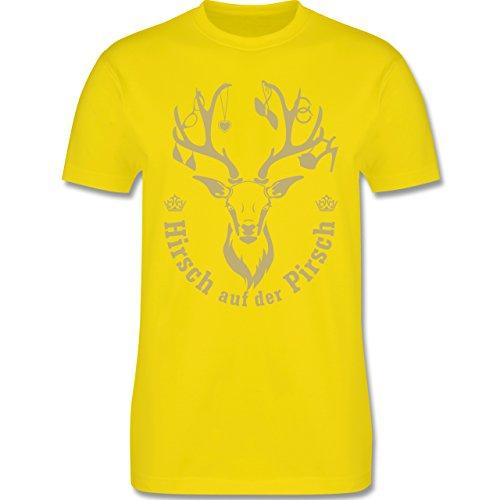 JGA Junggesellenabschied - Hirsch auf der Pirsch - Herren Premium T-Shirt Lemon Gelb