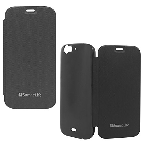 SumacLife Premium Flip Cover Case for Micromax Canvas Turbo A250 (Black)  available at amazon for Rs.199