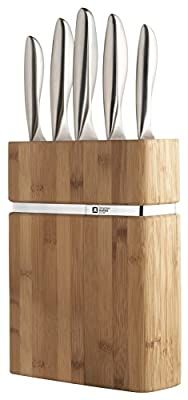 "Richardson Sheffield R01000K436K21 ""Forme"" Kitchen Knife Block Set, Silver, Set of 5"