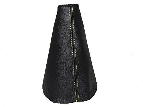 Für Citroen C2C32003-09Gear Stick Gaiter schwarz Leder gelb Nähten -