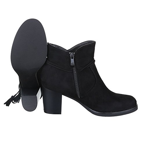 Ital-Design , Bottes et bottines cowboy femme Schwarz