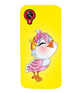 HiFi Designer Phone Back Case Cover LG Nexus 5 :: LG Google Nexus 5 :: Google Nexus 5 ( Beautiful Cute Bird Singing )