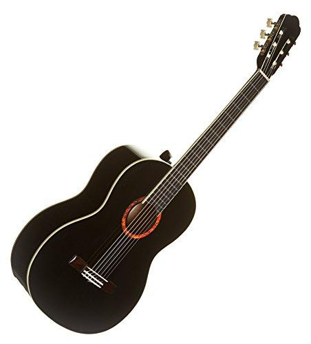 guitarra-clasica-la-mancha-romero-by-mod-41-lava-negro-acabado-brillante