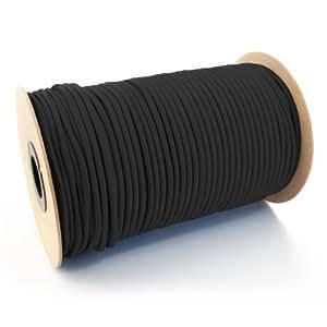 10m corde élastique câble 8mm noir - plusieurs tailles et couleurs