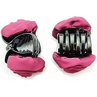 HAND elegante alla moda clip raso rosa Bulldog Capelli 70
