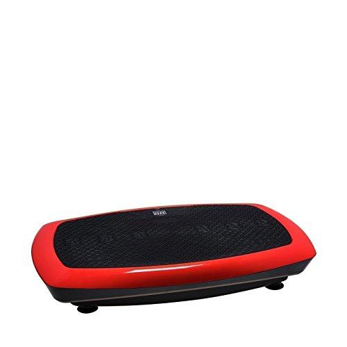 Plataforma vibratoria VibroSlim Radial 3D – 3 Movimientos (Oscilante, Lineal y Tri-planar), 2 Motores, Pantalla LED, 3 programas, 20 niveles de intensidad/velocidad. Garantía 3 años (Rojo)