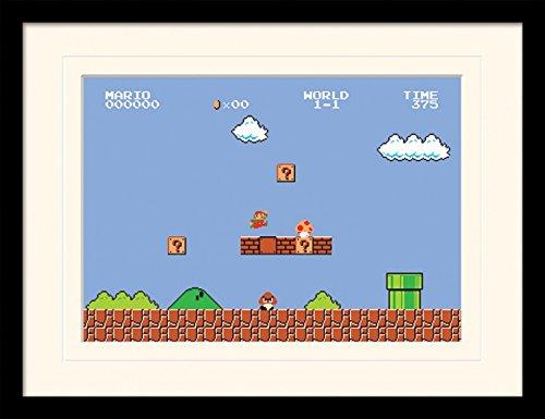 (1art1 102021 Super Mario - Bros. 1-1 Gerahmtes Poster Für Fans Und Sammler 40 x 30 cm)