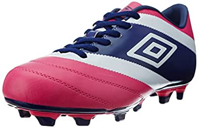Umbro Men's Umbro Extremis 2 Fg - A Pink Glo, White, Blueprint and Clematis Blue Football Boots - 11 UK