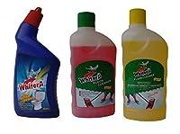 WhiterA Floor cleaner 500ml Pink, Yellow & WhiterA Extra Power 500ml