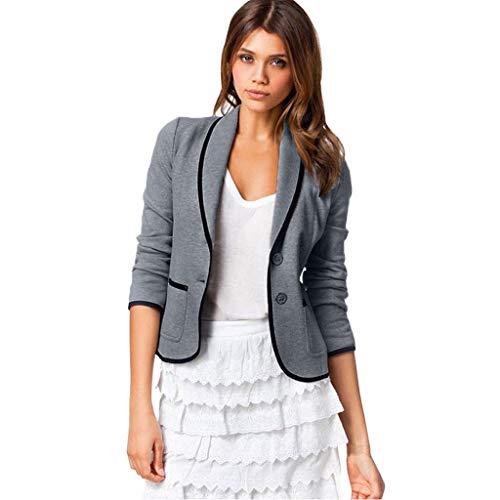 GJKK Damen Elegant Bolero Business Blazer Anzug Kurz Cardigan Langarmshirts Slim Jacke Outwear Größe S-6XL