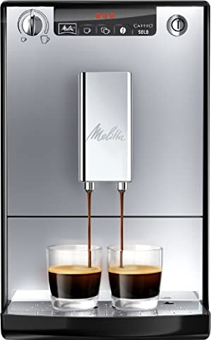 Melitta Machine à Café Automatique, Caffeo Solo, Argent,