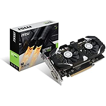 MSI GeForce GTX 1050 2GT OC - graphics cards (NVIDIA, GeForce GTX 1050, 7680 x 4320 pixels, 1404 MHz, 1518 MHz, 2 GB)