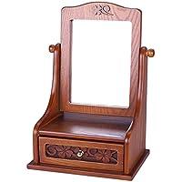 TRE portagioie in legno/ Desktop mirror/Vintage Regina Desktop mirror/ gioielli/scatola di immagazzinaggio-A