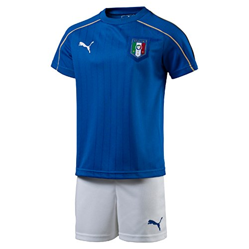 PUMA Baby Set FIGC Italia Home Minikit with Packaging without Socks, Blau (team power blue-White), 116 (Herstellergröße: 5-6Y)