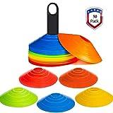 Awroutdoor Markierungshütchen 50 Stücke Sport Hütchen Set zur Markierung