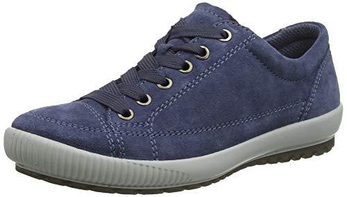 Legero TANARO-Sneaker, Damen Niedrig- Anderes Leder, Blau (Zaffiro (Blau) 84), 40 EU (6.5 UK) - Damen Leder Halbschuhe Schuhe