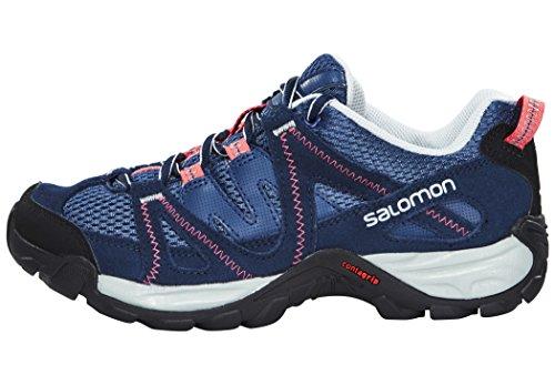 Salomon Kinchega - Chaussures de randonnée - bleu 2016 chaussures de montagne stateblue/black/madder pink