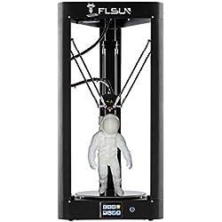 FLSUN Impresora Delta 3D premontada con tamaño de impresión φ260X370 Nivelación automática Pantalla táctil WIFI Control remoto Cama calefactada Nivelación automática