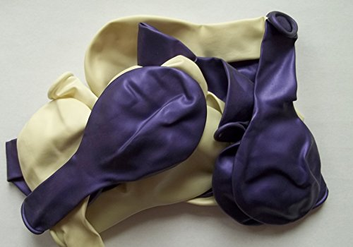 50 Globos de colour morado metalizado europeos de Sajonia envío de coloures