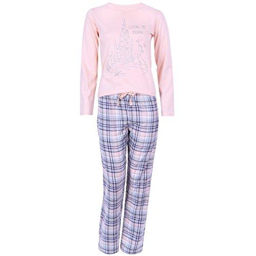Disney Prinzessinnen Damen Mädchen Schlafanzug Pyjama Nachtwäsche 100% Baumwolle - 36-38 / UK 10-12 / EU 38-40